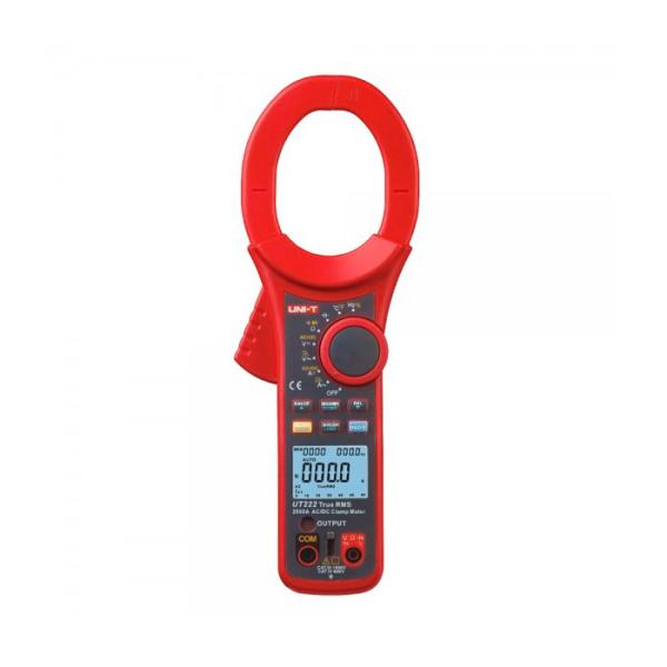 Pinza amperimétrica para medir corriente AC, voltaje AC/DC UT222